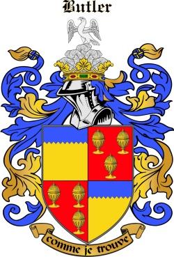 BUTLER family crest