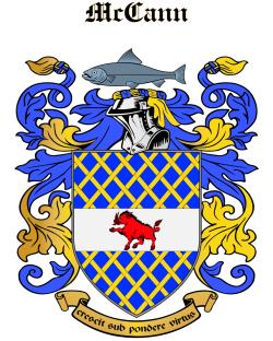 MCCANN family crest